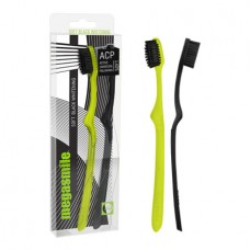 Зубная щетка Megasmile Soft Black Whitening чёрная и жёлтая 2 шт