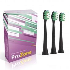 Насадка для электрической зубной щетки Lebond - ProZone VibroPower Black 3 шт