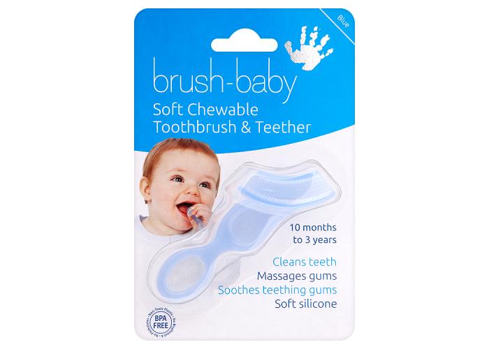 Жевательная зубная щетка и прорезыватель Brush-Baby