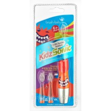 Звуковая зубная щетка Brush-Baby KidzSonic от 6 лет красная