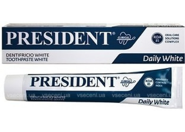 Зубная паста President White Clinical 75 мл