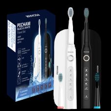 Набор звуковых зубных щеток Pecham Black and White Travel Set 2 шт