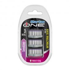 Сменные головки для зубной щетки Silver Care One для чувствительных зубов 3 шт