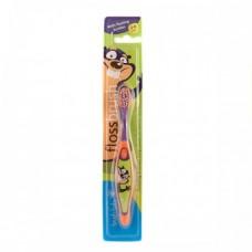 Зубная щетка Brush-Baby FlossBrush от 3 до 6 лет фиолетовая