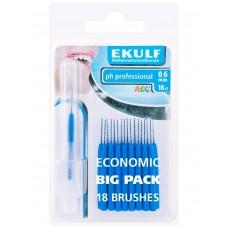 Межзубные ершики Ekulf ph professional 0.6 мм 18 шт