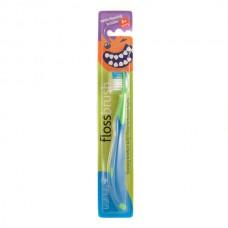 Зубная щетка Brush-Baby FlossBrush от 6 лет синяя