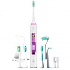 Звуковая зубная щетка Lebond V2 Ortho Pink 6 насадок
