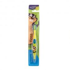 Зубная щетка Brush-Baby FlossBrush от 3 до 6 лет жёлтая