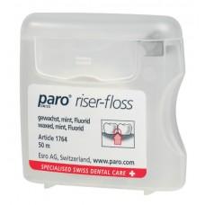 Зубная нить (флосс) с мятой и фтором paro® Riser-Floss 50 м