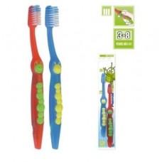 Набор детских зубных щеток Pierrot Гусеница от 3 до 8 лет 2 шт