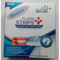 Полоски для отбеливания зубов Beaver Non-Peroxide Flash Strips Blue