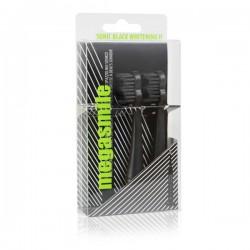 Насадки для гидроактивной звуковой зубной щетки Megasmile Блэк Вайтенинг Черные 2 шт