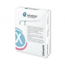 Зубная нить (флосс) и зубочистка Miradent Toothpick 100 шт
