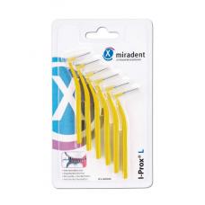 Межзубные ершики Miradent I-Prox L x-fine 0.5 мм желтые 6 шт.