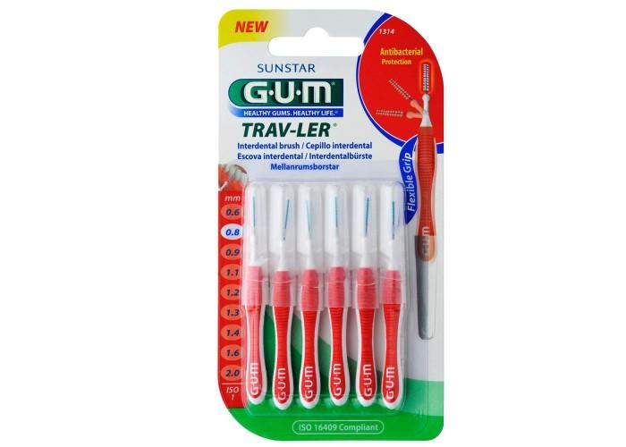 Межзубные ершики GUM TravLer 0.8 мм 6 шт