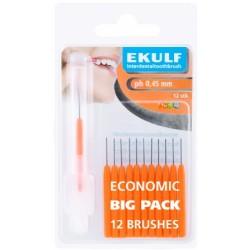Межзубные ершики Ekulf ph 0,45 мм оранжевые 12 шт