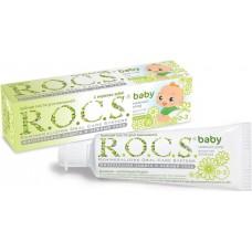 Детская зубная паста R.O.C.S. baby Душистая ромашка от 0 до 3 лет 35 мл