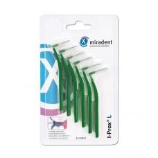 Межзубные ершики Miradent I-Prox L medium 0.7 мм зеленые 6 шт.