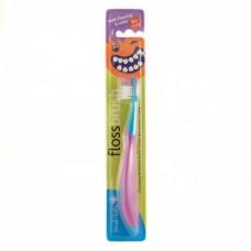 Зубная щетка Brush-Baby FlossBrush от 6 лет фиолетовая