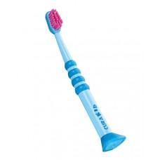 Детская зубная щетка Curaprox Curakid с резиновой ручкой от 0 до 4 лет