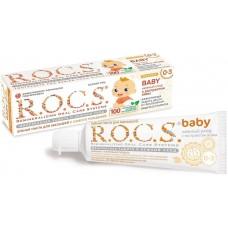 Детская зубная паста R.O.C.S. baby с экстрактом айвы от 0 до 3 лет 35 мл