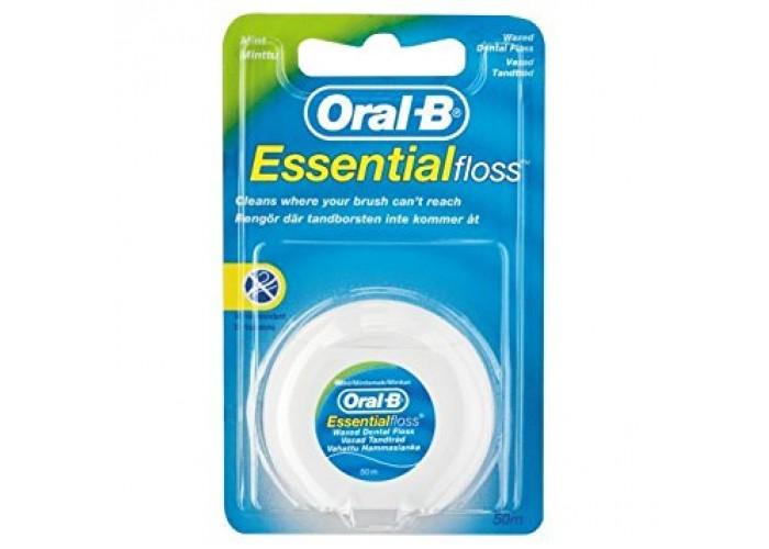 Зубная нить (флоссы) Oral-B Essential Floss вощеная 50 м