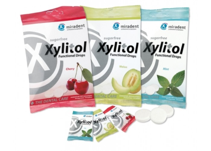 Леденцы с ксилитом Miradent Xylitol Drops 60 г 26 шт