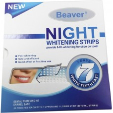 Полоски для отбеливания зубов Beaver Night Whitening Strips 20 шт