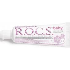 Детская зубная паста R.O.C.S. baby с ароматом липы от 0 до 3 лет 35 мл