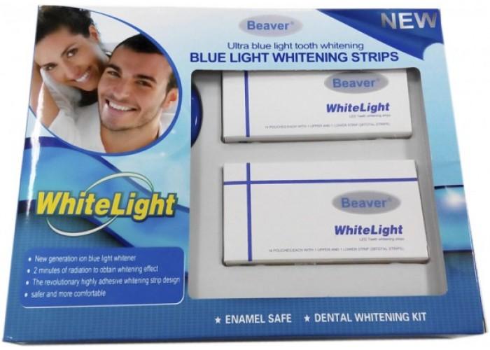 Комплект для отбеливания зубов Beaver Blue Light Whitening Strips 28 шт