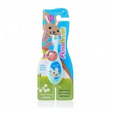 Детская зубная щетка Brush Baby Flossbrush до 3 лет зелёная