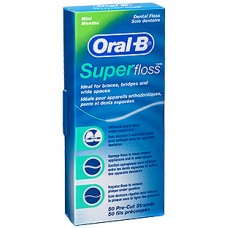 Зубная нить (флоссы) Oral-B Super Floss 50 шт