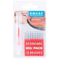 Межзубные ершики Ekulf ph 0,5 мм красные12 шт