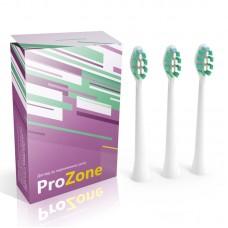 Насадка для электрической зубной щетки Lebond - ProZone VibroPower White 3 шт