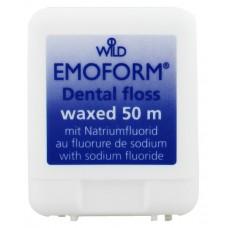 Зубная нить (флосс) Emoform вощенная со фтором 50 м