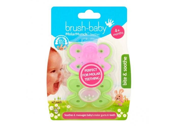 Грызунок Brush-Baby MolarMunch Green/Pink