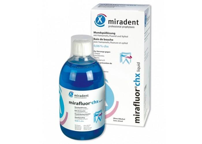 Ополаскиватель рта Miradent Mirafluor с хлоргексидином 0,06% 500 мл