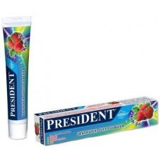 Детская зубная паста President Kids Клубника со фтором от 3 до 6 лет 50 мл