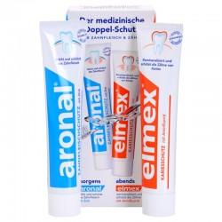 Набор зубных паст Aronal и Elmex Caries Protection 2x75 мл