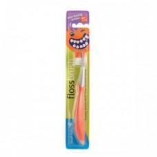 Зубная щетка Brush-Baby FlossBrush от 6 лет красная