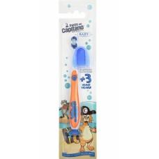 Детская зубная щетка Pasta del Capitano Baby от 3 до 6 лет оранжевая