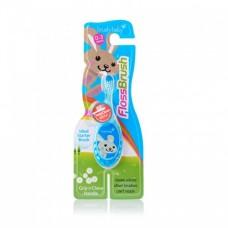 Детская зубная щетка Brush Baby Flossbrush до 3 лет голубая