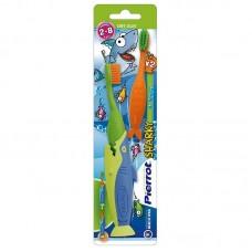 Набор детских зубных щеток Pierrot Акула от 2 до 8 лет 2 шт